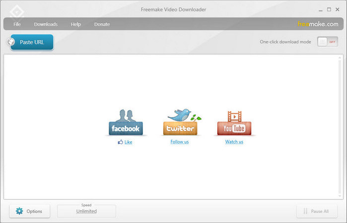 download youtube albums with Freemake Video Downloader