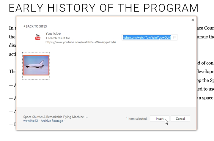 insert online video to PowerPoint
