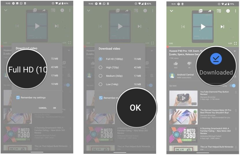 download youtube video on mobile with premium