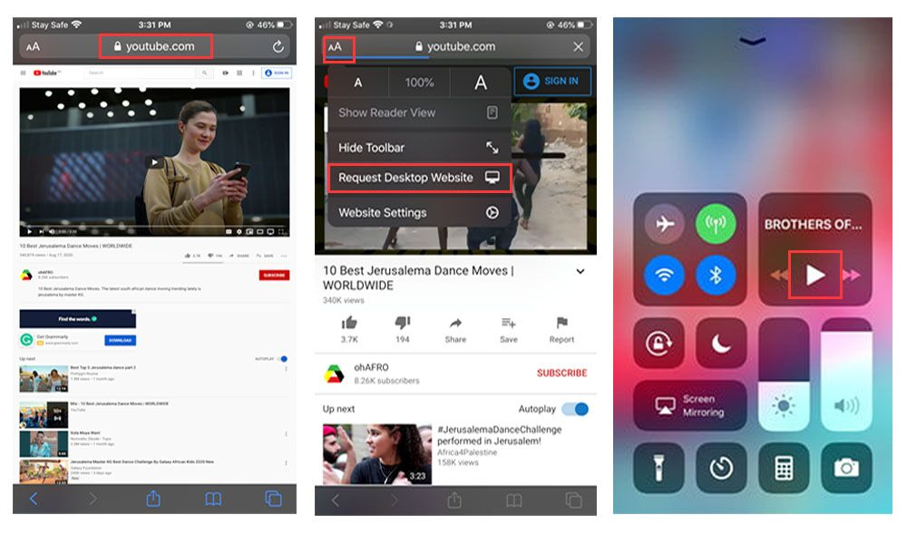 play youtube with screen off on ios