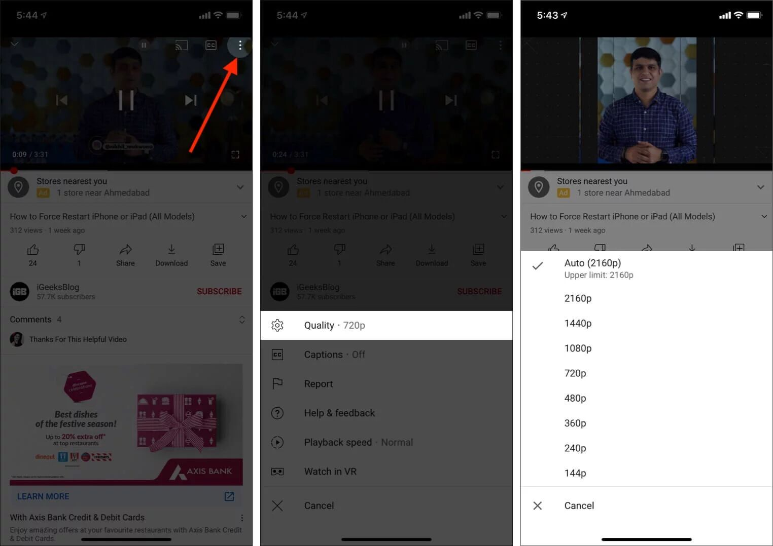 watch 4k youtube video on iphone and ipad