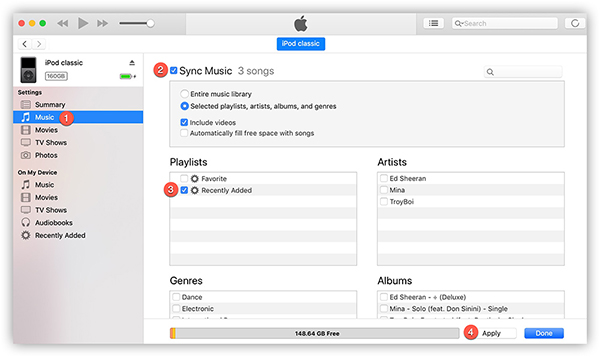 sync youtube music to ipod