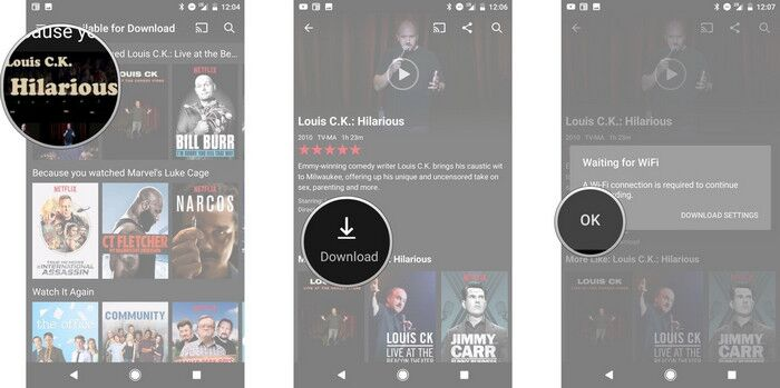 download Netflix videos to Android device