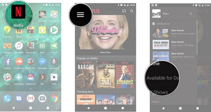 download Netflix videos to Android