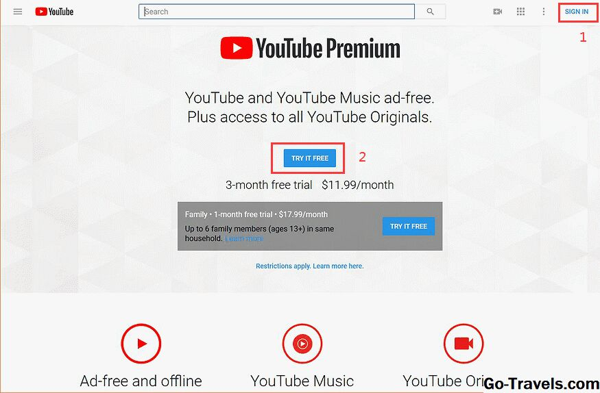 get YouTube Premium 3 month free trial on browser