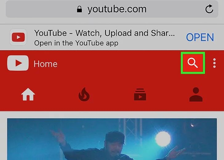 search video on youtube browser