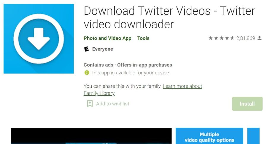 Download Twitter Videos on Android app