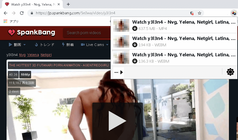 download SpankBang Video with Video Download Extension